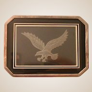 Intaglio Carved Eagle On A Silver-Clad Box, By Ronald Stevens