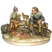 "ANTONIO BORSATO - ""The Woodcutter""  Multi-Figural Porcelain Sculpture"