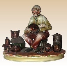 """Borsato - """"Lost In Meditation"""" - Great Detail - Multi-Figural Porcelain By The Master"""