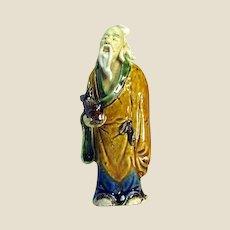 Chinese Mudman Sage With Fish,  c 1930