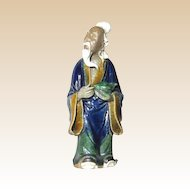 Chinese Mudman Elder Sage With Peach, Symbol of Immortality - Circa 1920