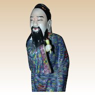 Marvelously Colored Polychrome Chinese Porcelain Figure