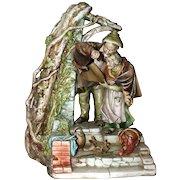 "ANTONIO BORSATO - ""Shelter"" - Touching  Multi-Figural Porcelain Sculpture From The Master"