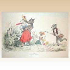 Grandville (Jean Ignace Isidore Gérard) (1803 - 1847) - Les Métamorphoses du jour (1828–29) Plate LXIV