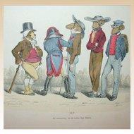 Grandville (Jean Ignace Isidore Gérard) (1803 - 1847) - Les Métamorphoses du jour (1828–29) Plate XLV