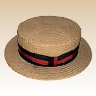 "LARRY HAGMAN'S ESTATE - ""George M."" Straw Boater Hat, Given By Joel Gray!"