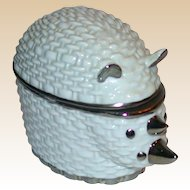 GUCCI Lidded Porcelain Rhinoceros Trinket or Dresser Box,  Made In Italy, Absolutely Adorable!