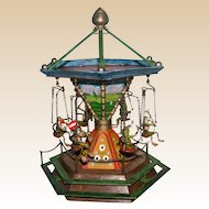 `Bergmann Vienna Bronze Merry-Go-Round With Six Frogs, MUSEUM QUALITY