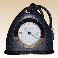 """LARRY HAGMAN'S ESTATE - Rare Gucci """"Stirrup"""" Desk/Table Clock, Numbered and Registered"""