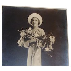 "Mary Pickford (1892 - 1979)  Only Copy Signed Original Vintage Black and White Photo Embossed ""Hurrell"""