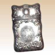 Gorham Sterling Silver Match Safe (Vesta) With Scrolled Borders, Listed, Circa 1898