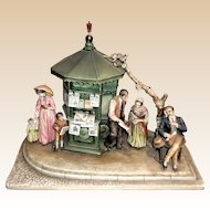 "Borsato - ""News Kiosk"" - Museum Quality Very Large Multi-Figural Masterpiece -"