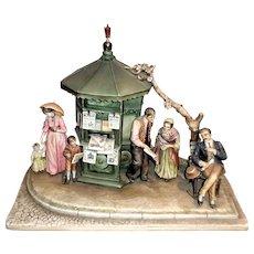"Borsato - ""News Kiosk"" - Museum Quality Very Large Multi-Figural Masterpiece -"
