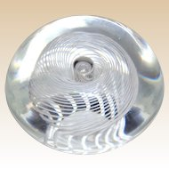 Steuben Swirling Latticinio Abstract Design Paperweight, Signed - From The Very Prestigious Altschuler Collection