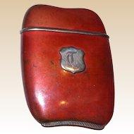 Foster & Bros. Copper and Sterling Silver Match Safe (Vesta). Circa 1910