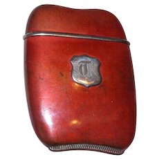 Foster & Bros. Copper and Sterling Silver Match Safe (Vesta). Circa 1910 - Red Tag Sale Item