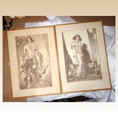 Samson And Delilah Costume Design Sketches - Best Costume Design Academy Award - 1949