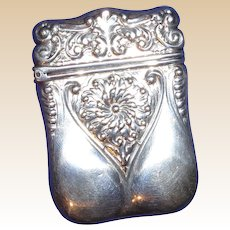 Antique Gorham LISTED Sterling Match Safe (Vesta), Lobed and Stylized Floral Decoration, Circa 1892