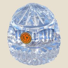Hand Cut Crystal Paperweight - Pre-German Reunification