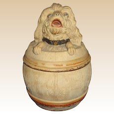 Antique Johann Maresch Humidor, Austria, Circa 1880 - Great Dog Head!
