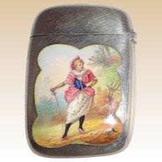 Gorham Antique Silver And Enamel Match Safe (Vesta), Listed, Circa 1892