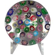 Excellent Antique Clichy Spaced Complex Millefiori And Roses Paperweight - Circa 1860