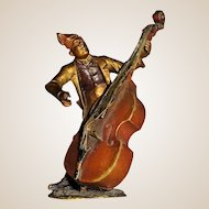Bergmann Antique Vienna Bronze Double Bass (Cello) Player