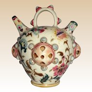 Zsolnay Hungarian Pottery Water Jug or Incense Jar - Circa  1870-1895