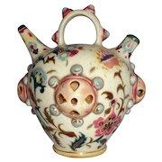 Zsolnay Hungarian Pottery Water Jug or Incense Jar - Circa  1870-1895