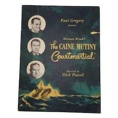 Caine Mutiny Court Martial Program, Signed by Cast, Including Henry Fonda, Lloyd Nolan, C 1954