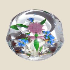 Paul Stankard - Exquisite Faceted Dahlia Bouquet Paperweight