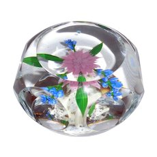 Paul Stankard - Exquisite Faceted Dahlia Bouquet Paperweight