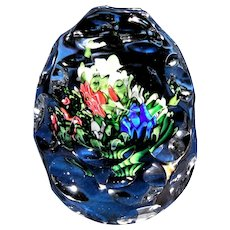 Antique Saint Louis Upright Bouquet Hand Cooler Paperweight, C 1860