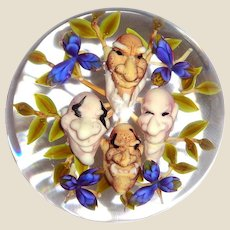 """JIM D'ONOFRIO - """"Gnome Bouquet"""" Paperweight - Signed/Dated"""