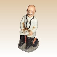 Bisque Doctor Figurine - Ayerst Pharmaceutical Promotion Item