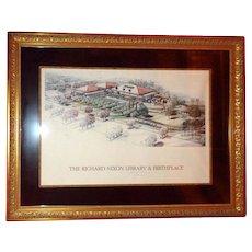 RICHARD NIXON Signed - Image Of The Richard Nixon Library And Birthplace Circa1990