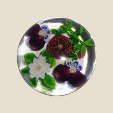 RARE Antique Baccarat Four-Flower Bouquet Paperweight
