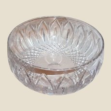 Lovely Vintage Atlantis Large Cut Glass Bowl