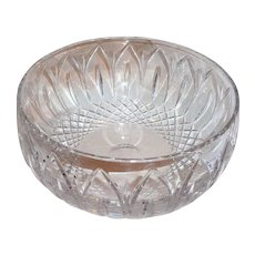 Lovely Vintage Atlantis Large Cut Glass Bowl