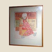 "PHYLLIS DILLER Estate - Original Drawing - Mixed Media, Signed ""Kimura"""