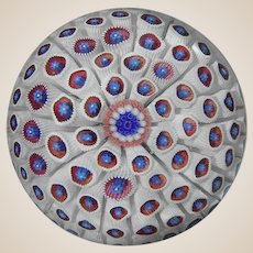 "Museum Quality Rare Antique Saint Louis Carpet Ground Paperweight - Listed in ""The One Hundred Most Important Paperweights"""