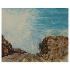 "CARLTON (American Artist) - ""Nature's Strength"" - Original Watercolor, Signed"