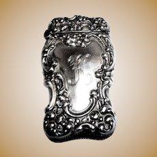 Antique Sterling Silver Unger Bros. Match Safe (Vesta) - Circa 1890