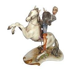"ANTONIO BORSATO -  ""Don Quixote Mounted"" - Fabulous - Great Example Of The Master's Work!"