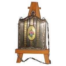Elegant and Beautiful  - Au Necessaire with Guilloche Enameled Inset, From A Most Gracious Time Period!