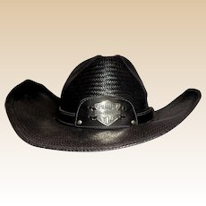 Larry Hagman's Harley Davidson Cowboy Hat, Signed by Larry Hagman