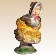 Antique Cold-Painted Humorous Austrian Bronze Of Peasant Lady Lifting Her Skirt