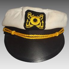 Larry Hagman Estate -  Sailor's Cap With Yellow Rope Decoration