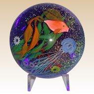 Steven Lundberg Underwater Scene Paperweight,  Personally Signed,