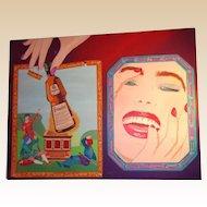 "Clayton Lefevre (20th Century) - ""Playful Interruption"" - Huge Original Painting -"